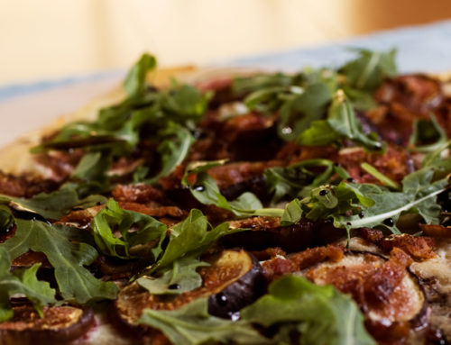 Meal Plans: Fig, Bacon, Goat Cheese, and Arugula Pizza